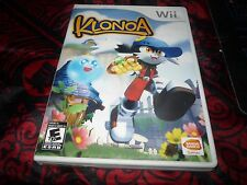 Klonoa (Nintendo Wii, 2009) Complete Great Shape Lots Of Fun CIB