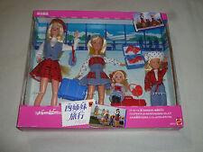 NEW IN BOX JAPANESE IMPORT BARBIE TRAVELIN SISTERS GIFT SET VINTAGE 1995 MATTEL
