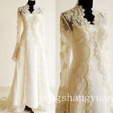 Custom Plus Size Lace Beaded Bridal Wedding Jackets Bolero Cape Wraps Shrug 2018