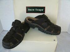 BARE TRAPS Women's CAPTAIN Leather Buckle Comfort Clogs Mules Shoes Sz 8 NEW NWB