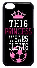 Cute Soccer Girl Pink Ball Quote Saying Pattern Case Cover For Apple iPod 4 5 6
