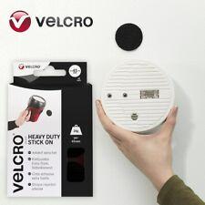 12x BLACK STICK ON 45mm VELCRO® COINS Self Adhesive Heavy Duty 2KG Circles Dots