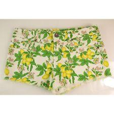 Victoria's Secret Boyfriend Yellow Lemons Green Floral Cut Shorts - SZ 6