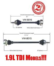 Front Left and Right Cv Shaft Axle Volkwagen Jetta Golf 1.9L DIESEL 1996-1999