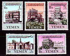 Yemen 1963 ** Mi.266/70 A Paläste Palaces Burgen Castle