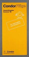 CONDOR FLUGE AIRLINE TIMETABLE SUMMER 1986 GESAMTFLUGPLAN FLUGPLAN GERMANY