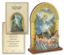 Religious Gifts Catholic 4 Inch Wood Archangel St Michael Protect Prayer Shrine