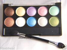 Pastel Eyeshadow Palette 10 Shimmer Shades Gold Silver White Lilac Aqua Brown BN