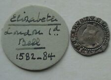 More details for elizabeth i sixth issue silver penny, mm bell 14mm 0.50g tudor hammered coin