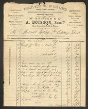 """PARIS (XI°) USINE / VERRERIES & CRISTAUX / LAMPES """"A. BOISSON"""" en 1879"""