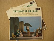 Yeoman of The Guard - D'Oyly Carte / Malcolm Sargent R.P.O. 2x Vinyl Lp Record