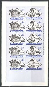 NORFOLK ISLAND 2000, COUNTRY MUSIC FESTIVAL, THANKSGIVING, Sc 695a Booklet, MNH