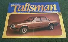 1981 FORD GRANADA 2.0 2.3 TALISMAN Saloon - UK COLOUR FOLDER BROCHURE - FA420