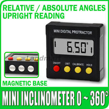 Mini Livello Digitale Inclinometro 360° Angolo Finder Pendenza Verticale Magneti