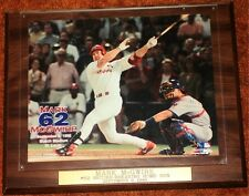 MARK McGWIRE - RECORD SETTING 62nd HOME RUN PLAQUE