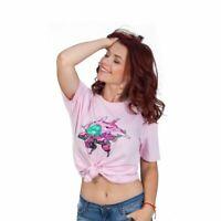 Overwatch D.VA Pixel T-Shirt Unisexe Grand Rose (TS001OW-L)