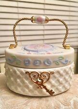 "Beautiful 2001 Enesco Precious Moments Porcelain June Oval 3""X2.5"" Trinket Box"