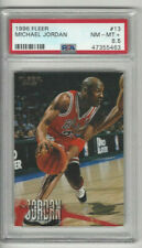 1996 Fleer #13 Michael Jordan PSA 8.5 Nm-Mt Chicago Bulls HOF