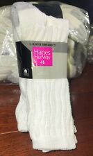 6 pair New in package Vintage 90s Hanes Her Way White slouch sock cushioned sole