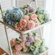 Bouquet Hydrangea Home Decor 9 Heads Wedding Silk Artificial Flowers Bridal