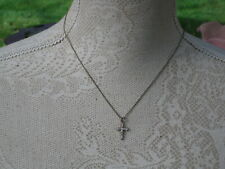 A small Silver 925 and diamante Cross Crucifix on silver 925 chain