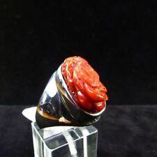 Ring Gr. 61 Silber 925 mit Koralle