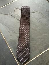 PAUL SMITH Noir avec argent CRAVATE à rayure cravate - 9cm Blade