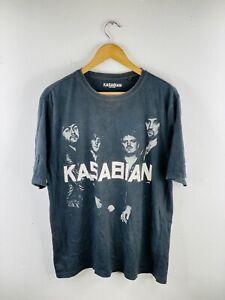 Kasabian Men's Vintage Short Sleeve Crew Neck Band T Shirt Size XL Black