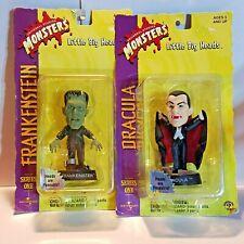 Lot of 2 1998 Little Big Heads Frankenstein Dracula Universal Monsters Series 1