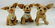 Taco Bell Chihuahua Dog Plush Set of 3 Collectible Applause Non Talking (Bb011)