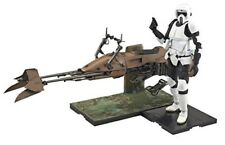 New Star Wars Scout Trooper & Speeder Bike 1/12 Scale Model Kit Bandai Japan