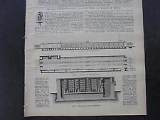 1898 Baugewerkszeitung 48 / Berlin Möller und Pfeifer Ziegelei Trockenmaschine