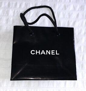 Chanel paper shopping bag - small / black