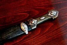 Old Caucasian Dagger Kindjal Sword Knife Handmade with Silver Ornaments