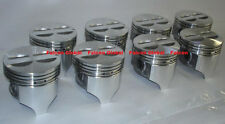 "Chevy 327 Sealed Power Cast Flat Top Pistons Set/8 +.030"" 1962-69 + MAHLE P BRGS"