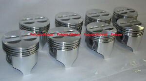 """Chevy 327 Sealed Power/Speed Pro Cast Flat Top Pistons Set/8 +.030"""" 1962-69"""