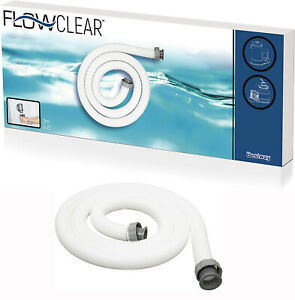 Hose Swimming Pool Bestway BW58368 1.5 inch Diameter  3 m - White 38mm