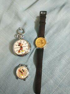 Micky Mouse Watch Lot - Bradley, Lorus, Helbros (BL)