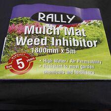 Spunbonded Weed Control Mulch Mat Weedmat Black Fabric 30gsm 1800 X 50M