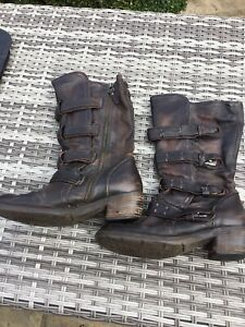 As 98 Boots Size 40 Airstep Brown Leather Buckle Detail