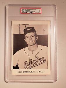 "1958-61 Jay Publishing Photos Portrait Billy Gardner Orioles PSA 5 - 7""x12"" CASE"