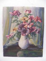Blumenstillleben Signiert NEBATZ um 1950  -B8
