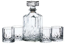 BarCraft by Kitchencraft Cut Glass Whisky / Drinks Decanter & 4 Tumbler Gift Set