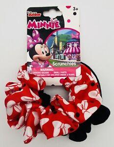 New Disney Minnie Mouse Girls Hair Elastic Scrunchy 2 Piece Set