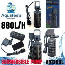 ARMADA AR1200L SUBMERSIBLE AQUARIUM FILTER 880L/H MARINE/AQUA FOUNTAIN FISH TANK
