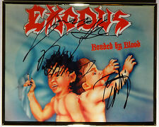 SIGNED EXODUS AUTOGRAPHED BONDED  BY BLOOD 8x10 PHOTO DISPLAY W/PICS