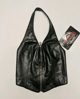 Milwaukee Motorcycle Clothing Co. Dolly Laced Leather Vest Women's Small