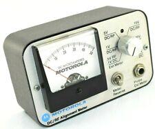 Vintage Motorola Alignment Meter Tek 7b Dcrf Microamperes Test Unit Nice