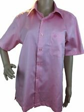 Louis Feraud Mens Polo Shirt Button Down Cotton Short Sleeve Slim Body Fit M