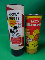 2 Vintage Balloon Inflato-Pump  & Mickey Mouse